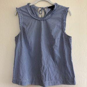 J Crew • sleeveless striped blouse • sz 8